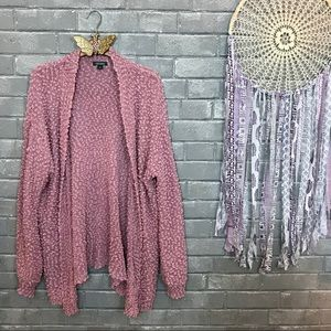 wild fable // mauve blush pink knitted cardigan xl